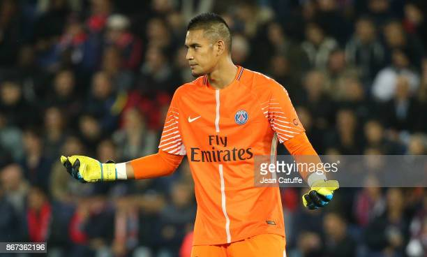 Goalkeeper of PSG Alphonse Areola during the French Ligue 1 match between Paris SaintGermain and OGC Nice at Parc des Princes stadium on October 27...