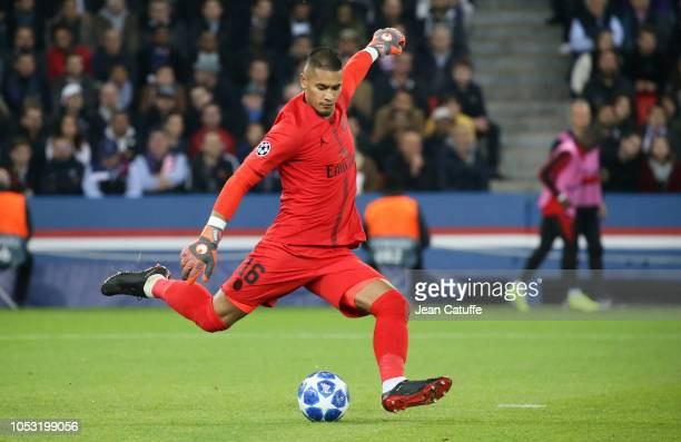 Goalkeeper of PSG Alphonse Areola during the Group C match of the UEFA Champions League between Paris SaintGermain and SSC Napoli at Parc des Princes...