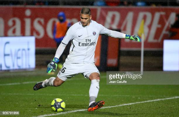 Goalkeeper of PSG Alphonse Areola during the Ligue 1 match between ESTAC Troyes and Paris Saint Germain at Stade de l'Aube on March 3 2018 in Troyes...