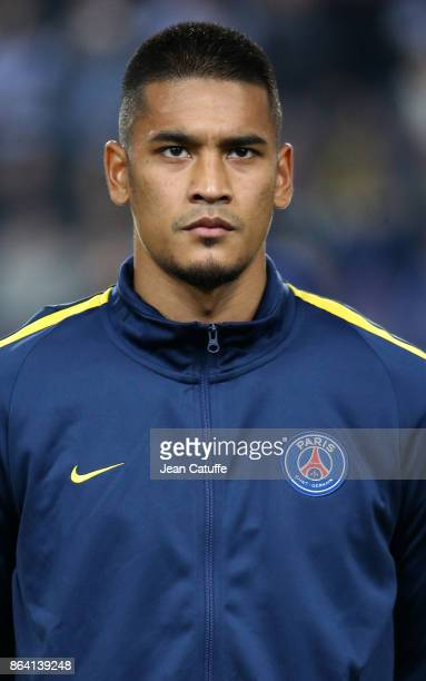 Goalkeeper of PSG Alphonse Areola during the UEFA Champions League match between RSC Anderlecht and Paris Saint Germain at Constant Vanden Stock...