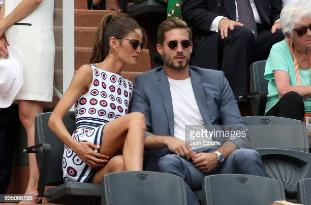 Goalkeeper of PSG Kevin Trapp and model Izabel Goulart attend the men's final on day 15 of the 2017 French Open second Grand Slam of the season at...