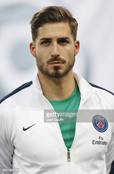 Goalkeeper of PSG Kevin Trapp looks on before the French Ligue 1 match between Stade Malherbe de Caen and Paris SaintGermain at Stade Michel D'Ornano...