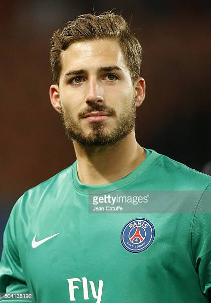 Goalkeeper of PSG Kevin Trapp looks on during the French Ligue 1 match between Paris SaintGermain and Sporting Club de Bastia at Parc des Princes...