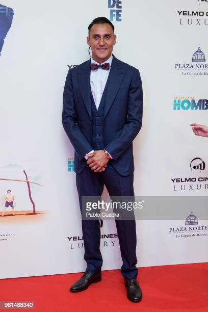 Goalkeeper of Real Madrid Keylor Navas attends the 'Hombre De Fe' premiere at Yelmo cinema on May 22, 2018 in San Sebastian de los Reyes, Spain.
