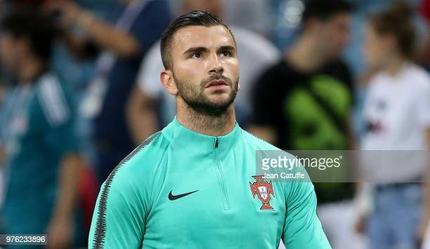 Goalkeeper of Spain Anthony Lopes warms up before the 2018 FIFA World Cup Russia group B match between Portugal and Spain at Fisht Stadium on June...