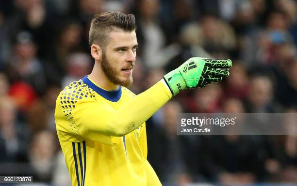 Goalkeeper of Spain David de Gea during the international friendly match between France and Spain between France and Spain at Stade de France on...