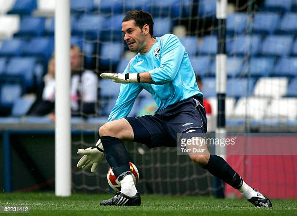 Goalkeeper of West Bromwich Albion Scott Carson failes to save a shot by Nunes of Real Mallorca during the Pre Season Friendly match between West...