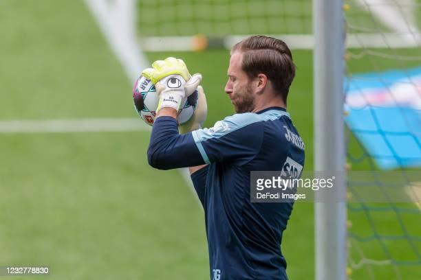 Goalkeeper Oliver Baumann of TSG 1899 Hoffenheim controls the Ball during the Bundesliga match between TSG Hoffenheim and FC Schalke 04 at...