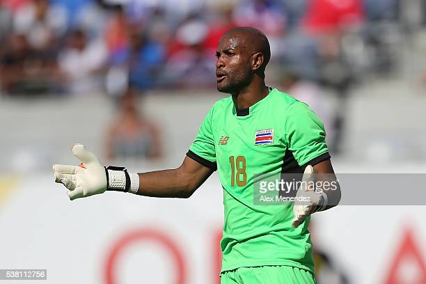Goalkeeper Patrick Pemberton of Costa Rica reacts during the 2016 Copa America Centenario Group A match between Costa Rica and Paraguay at Camping...