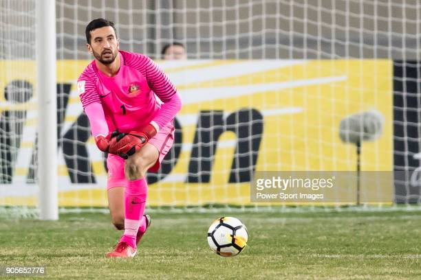 Goalkeeper Paul Izzo of Australia in action during the AFC U23 Championship China 2018 Group D match between Vietnam and Australia at Kunshan Sports...