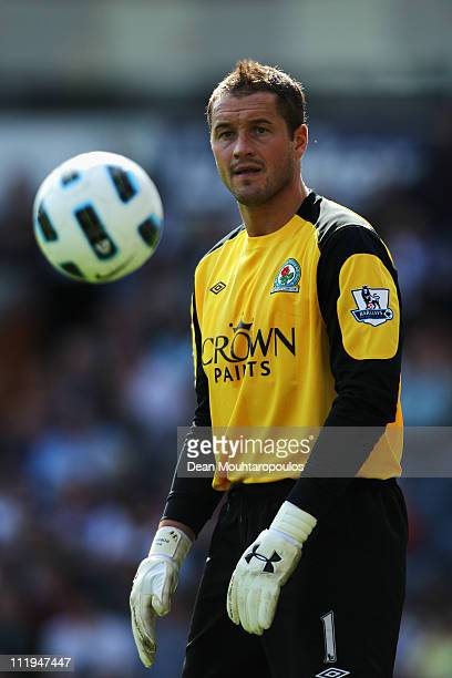 Goalkeeper Paul Robinson of Blackburn in action during the Barclays Premier League match between Blackburn Rovers and Birmingham City at Ewood park...