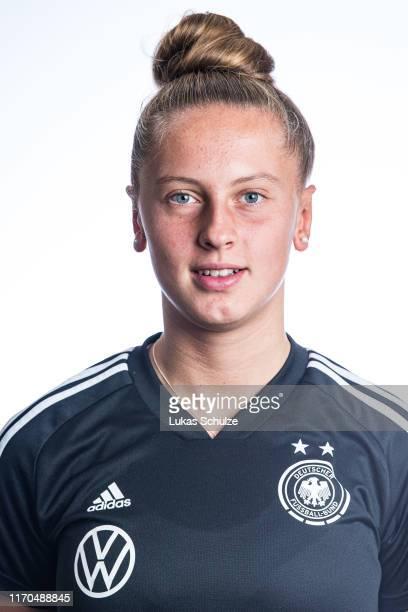 Goalkeeper Pauline Carlotta Nelles poses on August 27 2019 in Tilburg Netherlands