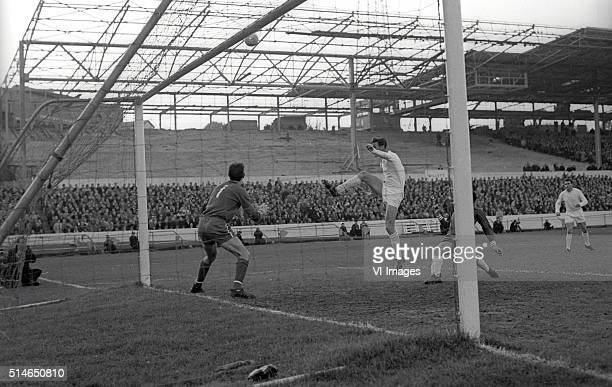 goalkeeper Peter Bonetti during the match between Chelsea and Leeds United on November 6 1965 at Stamford Bridge stadium at London England