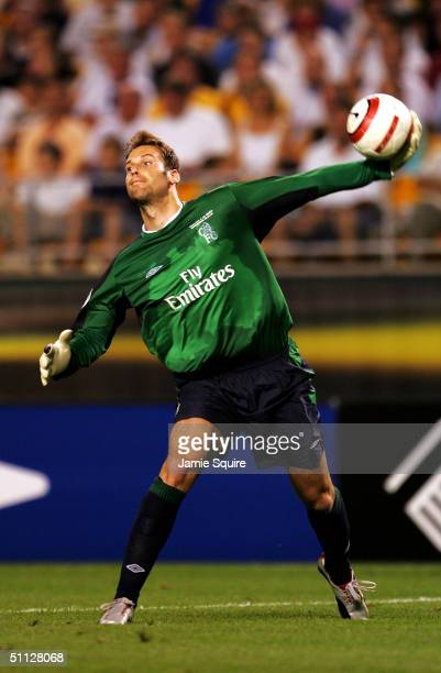 Goalkeeper Petr Cech of Chelsea in action during the Championsworld Series game against Roma at Heinz Field on July 29 2004 in Pittsburgh Pennsylvania