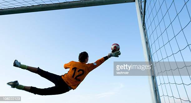 goalkeeper - goalie goalkeeper football soccer keeper stock pictures, royalty-free photos & images
