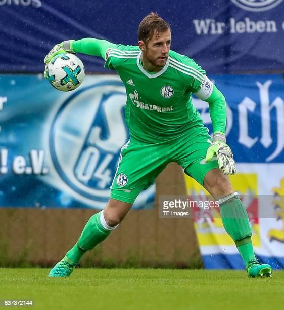 Goalkeeper Ralf Faehrmann of Schalke controls the ball during the preseason friendly match between FC Schalke 04 and Neftchi Baku on July 26 2017 in...