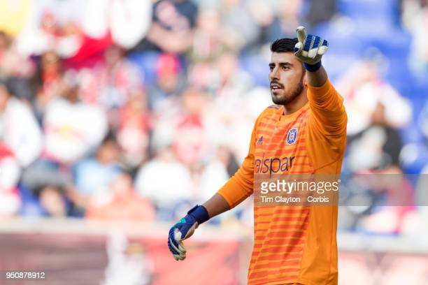 Goalkeeper Richard Sanchez of Chicago Fire in action during the New York Red Bulls Vs Chicago Fire MLS regular season game at Red Bull Arena on April...
