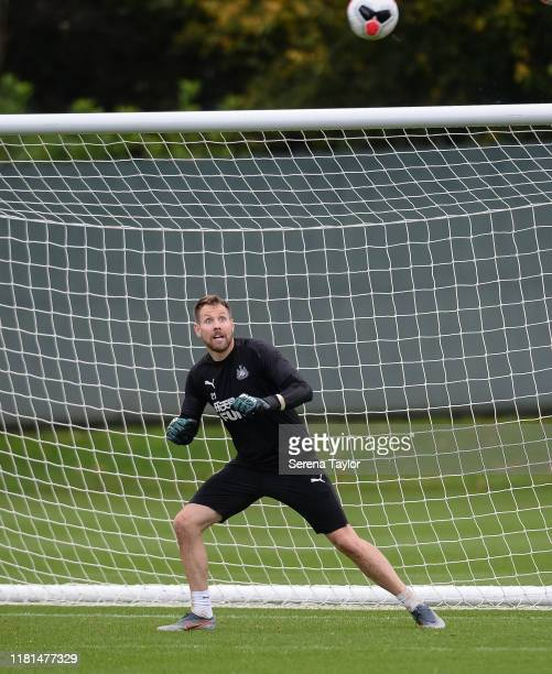 Goalkeeper Rob Elliot during the Newcastle United Training Session at the Newcastle United Training Centre on October 16 2019 in Newcastle upon Tyne...