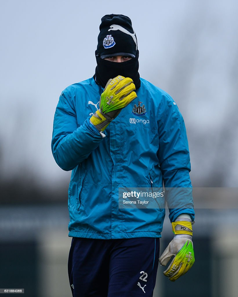 Goalkeeper Rob Elliot walks outside during the Newcastle United Training Session at The Newcastle United Training Centre on January 17, 2017 in Newcastle upon Tyne, England.