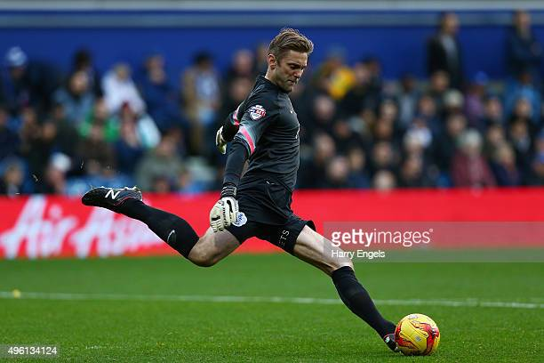 QPR goalkeeper Rob Green clears the ball upfield during the Sky Bet Championship match between Queens Park Rangers and Preston North End at Loftus...