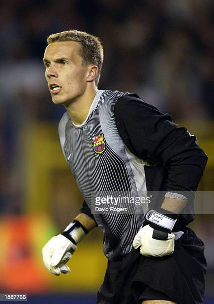 Goalkeeper Robert Enke of Barcelona in action during the UEFA Champions League First Phase Group H match between Club Brugge and Barcelona on October...