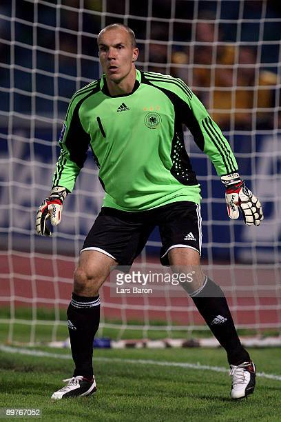 Goalkeeper Robert Enke of Germany is seen during the FIFA 2010 World Cup Group 4 Qualifier match between Azerbaijan and Germany at the Tofik...