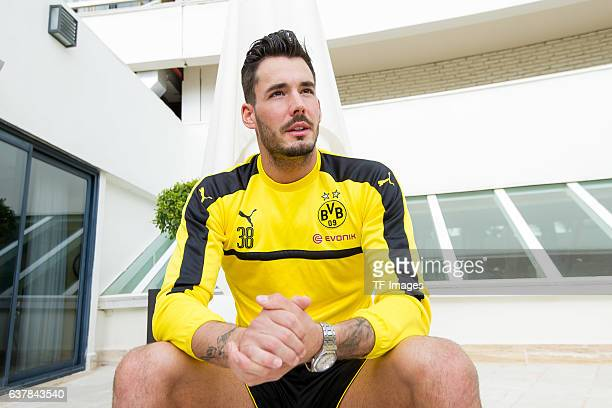 Goalkeeper Roman Buerki of Borussia Dortmund during the second day of the training camp at Estadio Municipal de Marbella on January 06 2017 in...