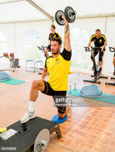 goalkeeper Roman Buerki of Borussia Dortmund in action during a training session as part of the training camp on July 29 2017 in Bad Ragaz Switzerland