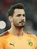 goalkeeper roman burki borussia dortmund during