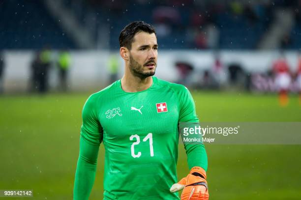 Goalkeeper Roman Burki of Switzerland looks on during the International Friendly between Switzerland and Panama at the Swissporarena on March 27 2018...