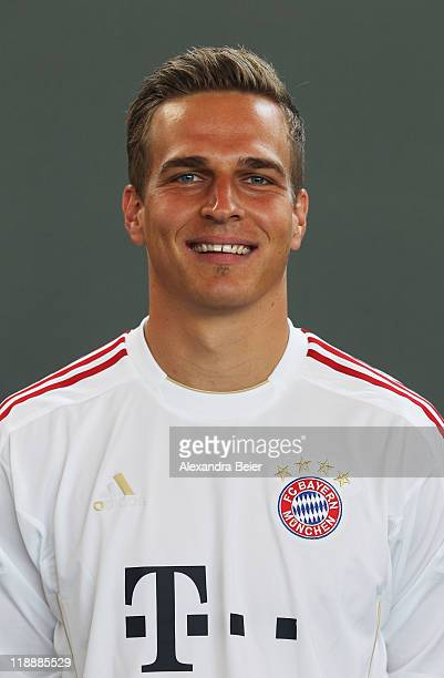 Goalkeeper Rouven Sattelmaier of Bayern Muenchen poses during the FC Bayern Muenchen team presentation for the upcoming season 2011/2012 at Bayern's...