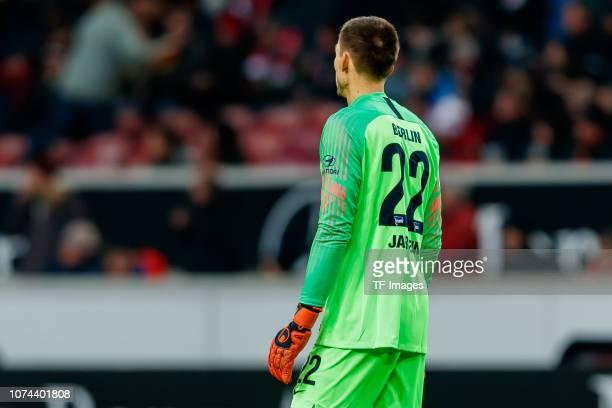 Goalkeeper Rune Jarstein of Hertha BSC looks on during the Bundesliga match between VfB Stuttgart and Hertha BSC at MercedesBenz Arena on December 15...