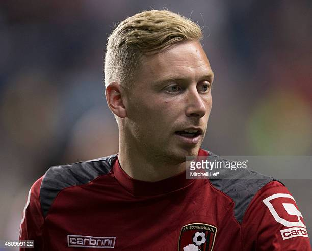 Goalkeeper Ryan Allsop of AFC Bournemouth looks on during the friendly match against the Philadelphia Union on July 14 2015 at the PPL Park in...