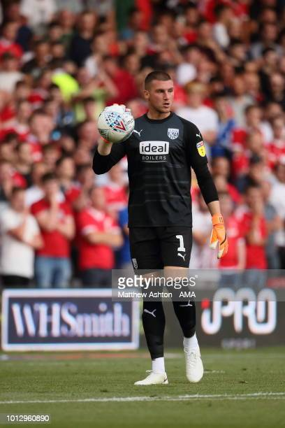 Goalkeeper Sam Johnstone of West Bromwich Albion during the Sky Bet Championship match between Nottingham Forest v West Bromwich Albion at City...