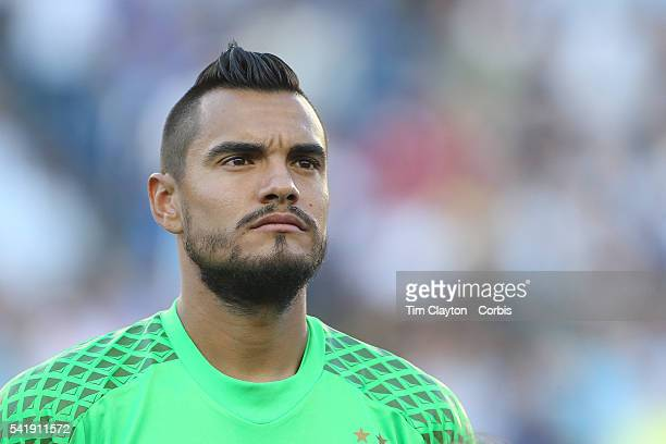 Goalkeeper Sergio Romero of Argentina during team presentations before the Argentina Vs Venezuela Quarterfinal match of the Copa America Centenario...