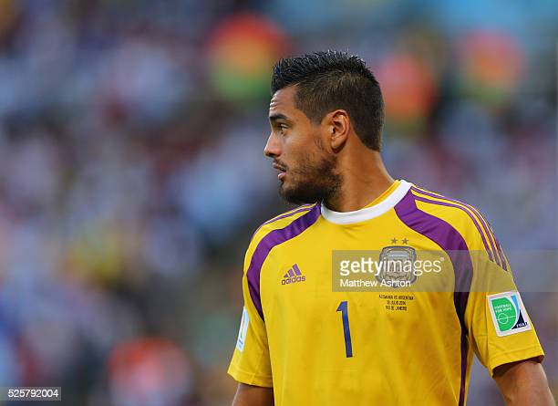 Goalkeeper Sergio Romero of Argentina