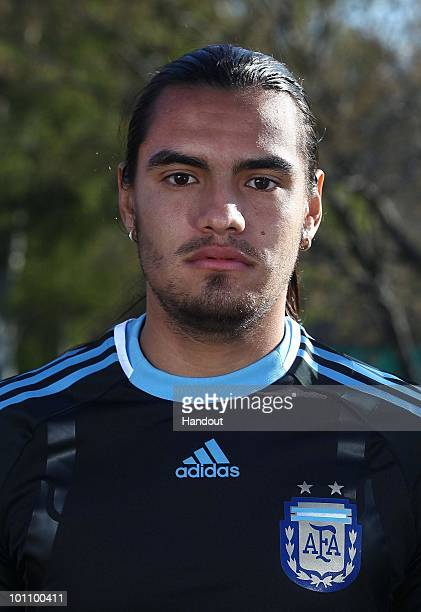 Goalkeeper Sergio Romero of Argentina's National team for the 2010 FIFA World Cup South Africa poses during a photo session on May 26 2010 in Buenos...