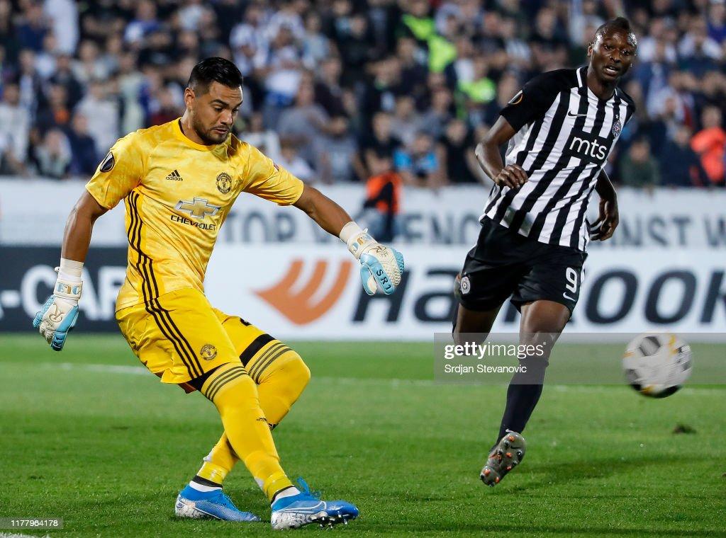 Partizan Belgrade v Manchester United: Group L - UEFA Europa League : News Photo