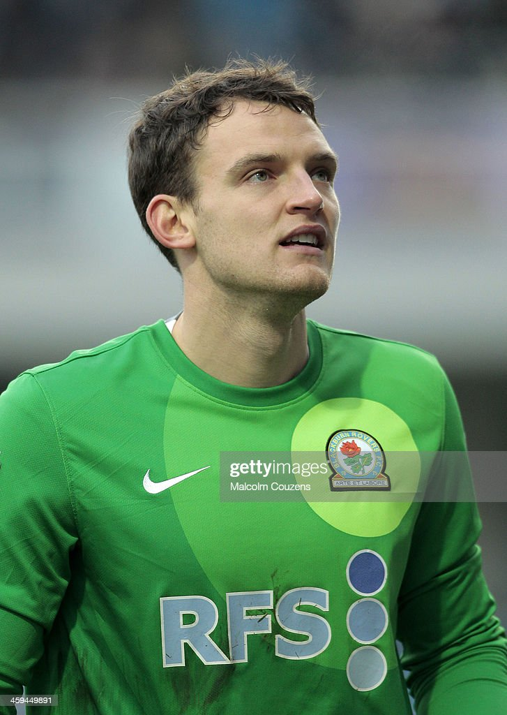 Goalkeeper Simon Eastwood of Blackburn Rovers during the Sky Bet Championship match between Blackburn Rovers and Sheffield Wednesday at Ewood Park on December 26, 2013 in Blackburn, England.
