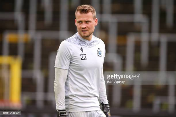 Goalkeeper Simon Mignolet of Club Brugge during the Jupiler Pro League match between Union Saint Gilloise and Club Brugge at Joseph Marien Stadion on...