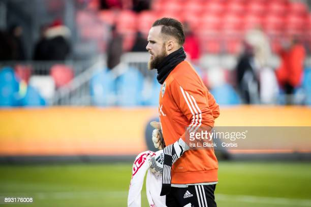 Goalkeeper Stefan Frei of Seattle Sounders takes the goal during the 2017 Audi MLS Championship Cup match between Toronto FC and Seattle Sounders FC...