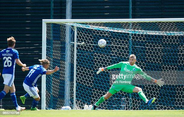 Goalkeeper Stephan Andersen of FC Copenhagen in action during the friendly match between FC Copenhagen and Lyngby Boldklub at KB's baner on June 27...