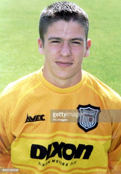 Goalkeeper Steve Croudson who plays for First Division Grimsby Town FC at Blundell Park Stadium