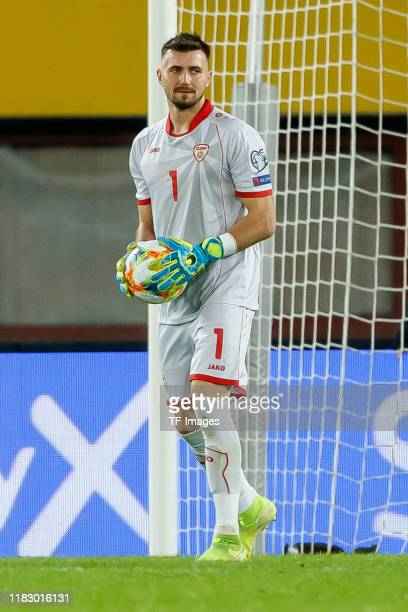 Goalkeeper Stole Dimitrievski of North Macedonia looks on during the UEFA Euro 2020 Qualifier between Austria and North Macedonia on November 16,...