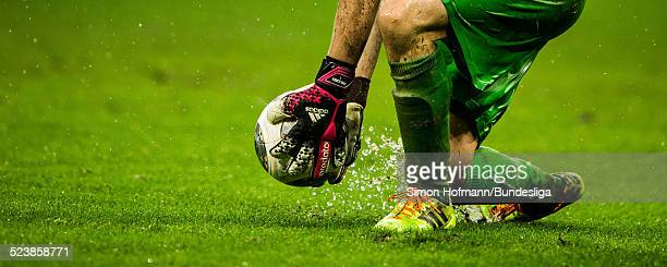 Goalkeeper Sven Ulreich of Stuttgart in action during the Bundesliga match between 1899 Hoffenheim and VfB Stuttgart at Wirsol RheinNeckar Arena on...