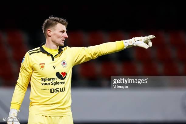 goalkeeper Theo Zwarthoed of Excelsior during the Dutch Eredivisie match between sbv Excelsior Rotterdam and FC Groningen at Van Donge De Roo stadium...
