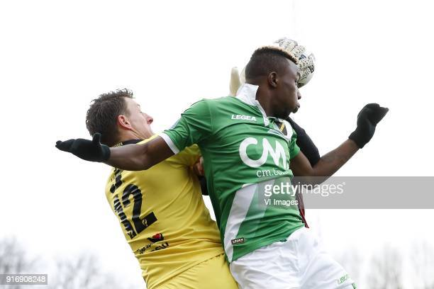 goalkeeper Theo Zwarthoed of sbv Excelsior Thierry Ambrose of NAC Breda during the Dutch Eredivisie match between sbv Excelsior Rotterdam and NAC...
