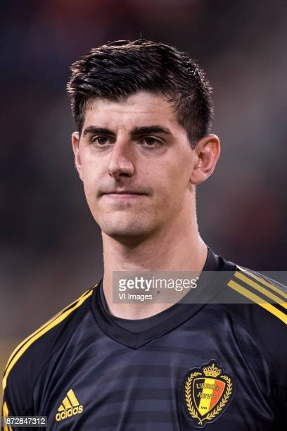 goalkeeper Thibaut Courtois of Belgium during the friendly match between Belgium and Mexico on November 10 2017 at the Koning Boudewijn stadium in...