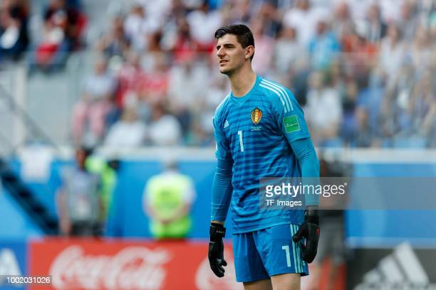 Goalkeeper Thibaut Courtois of Belgium looks on during the 2018 FIFA World Cup Russia 3rd Place Playoff match between Belgium and England at Saint...
