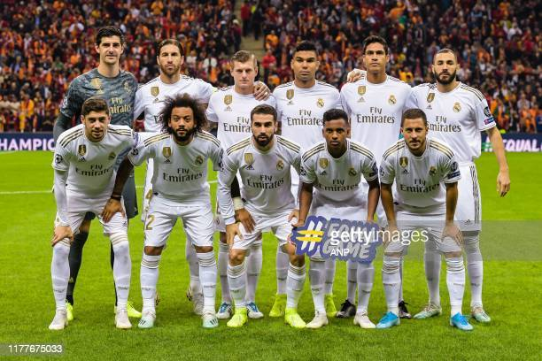goalkeeper Thibaut Courtois of Real Madrid CF Sergio Ramos Garcia of Real Madrid CF Toni Kroos of Real Madrid CF Carlos Henrique Jose Fransisco...
